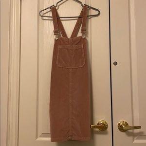 Top shop velvet overall dress